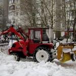 Уборка снега на улицах города в самом разгаре
