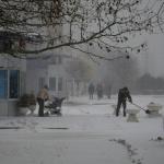 На выходные в Южный пришла зима